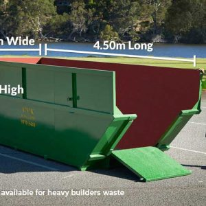 Skip Bin Size 1.5m High x 4.5m Long x 1.7m Wide