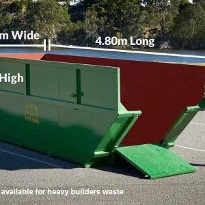 Skip Bins 1.65m High x 4.8m Long x 1.7m Wide