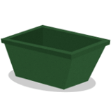 Green Thrash Bin Vector Model